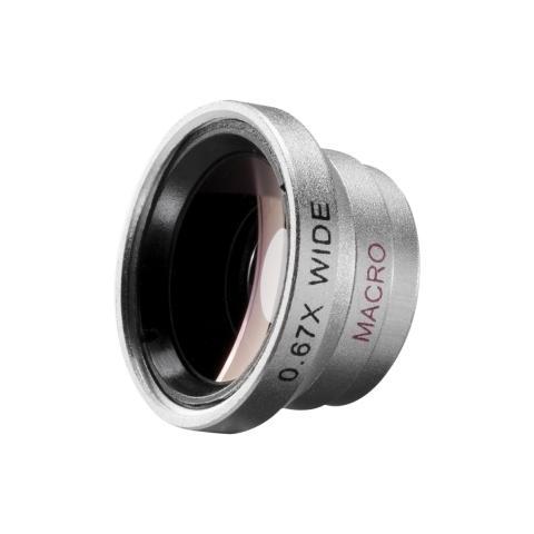 walimex Obiettivo Grandangolare per Fotocamera Argento Alluminio18664