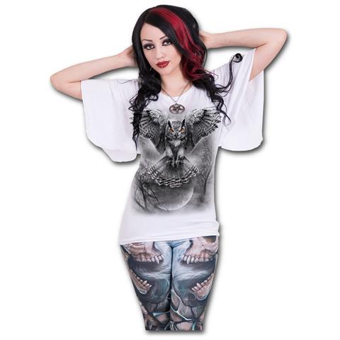 SPIRAL Wings Of Wisdom - Latin Boat Neck White (Top Donna Tg. M)