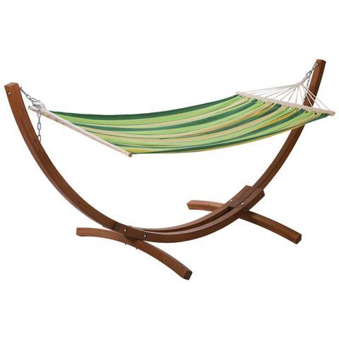 Amaca In Legno Relax - Dallas- 3 M - Verde Melange