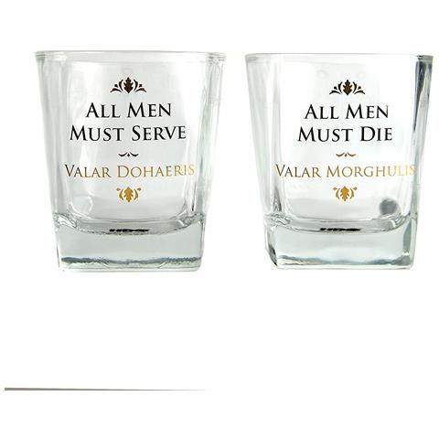 Game Of Thrones - All Men Tumbler (set 2 Bicchieri)