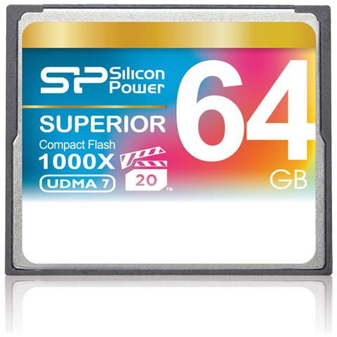 Image of 64GB 1000x Compact Flash, CompactFlash, 0 - 70 °C, -40 - 85 °C, 8 - 95%