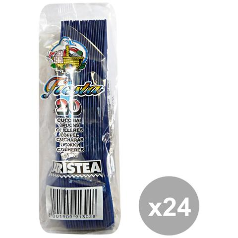 GNP Set 24 Cucchiai Colorato 20 Pezzi Blu Art. 791303 Posate