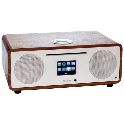 REDLINE Sistema audio digitale DAB+ analogico FM Lettore CD WI-FI Spotify connect Internet radio Dlna Blue tooth Porta USB controllabile tramite APP