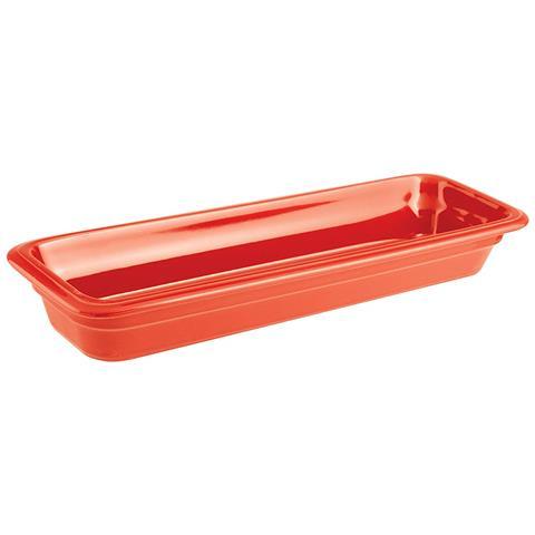 Bacinella Gn 2/4 Cm 53x16x6,5 Porcellana Rosso