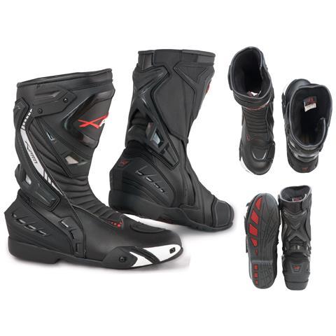 Stivali Moto Sport Racing Pista Strada Tecnico Microfibra Nero 46