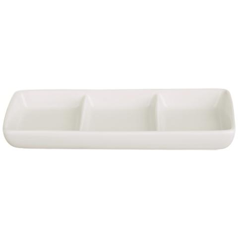 Portasalse 3 Scomparti White Home Bianco