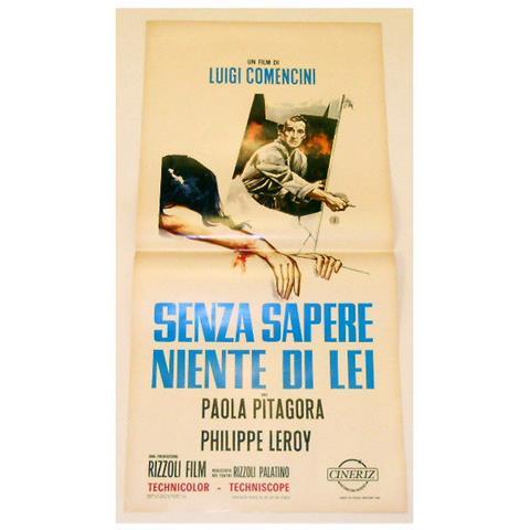 Vendilosubito Locandina Originale Del Filmsenza Sapere Niente Di Lei