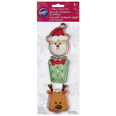 Set 3 Tagliabiscotto Buon Natale Set 3 Tagliabiscotto Buon Natale, Acciaio, Colori Assortiti