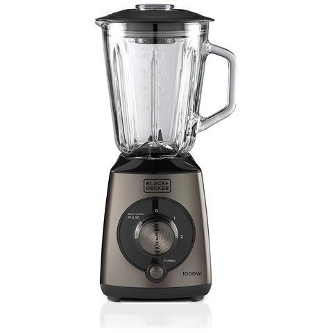 Frullatore Elettrico, Con Bicchiere In Vetro 1,5 Litri, Potenza 1000 Watt, Funzione Tritaghiaggio E Pulse, Potente E Robusto