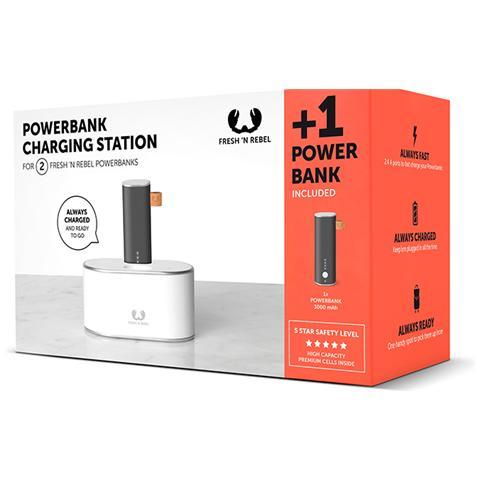 FRESH N REBEL Base di Ricarica con PowerBank da 3000 mAh 2 x USB