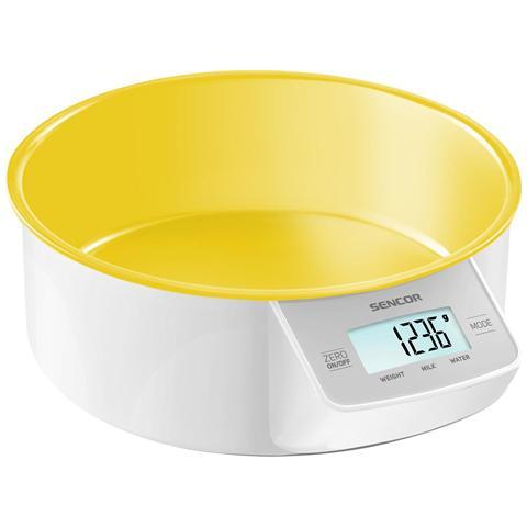 Bilancia Digitale da Cucina con Ciotola Rimovibile Portata 5 Kg Colore Giallo