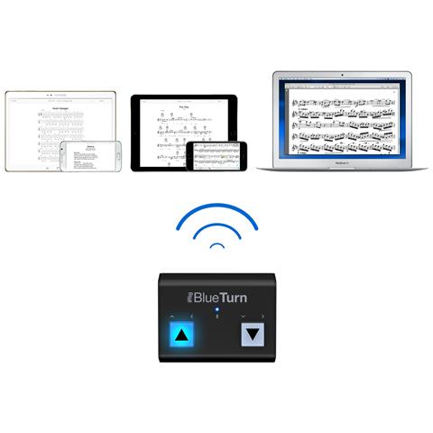 IK MULTIMEDIA iRig BlueTurn Pedaliera cambia pagina Bluetooth iOS, MAC, Android