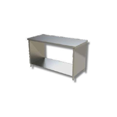 Tavolo 60x60x85 Acciaio Inox 304 Su Fianchi Ripiano Cucina Ristorante Rs8101