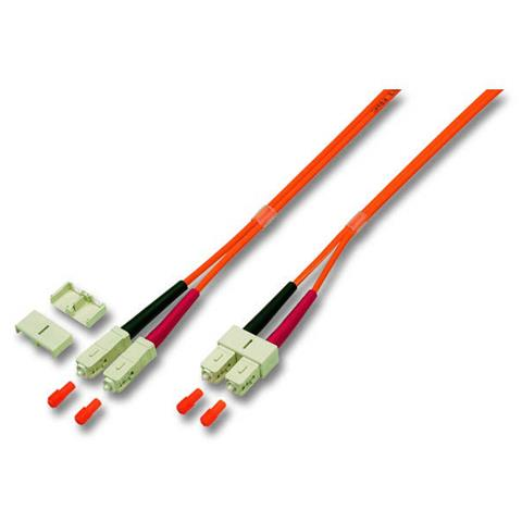 EFB Elektronik SC / SC 50/125µ 10m, SC, SC, Maschio / maschio, Beige, Nero, Arancione, Rosso, 10m, 1 pezzi