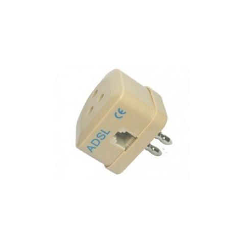 Alphaelettronica 3 Kit Spine Adsl Per Telefono 1 Spina A 3 Contatti, 1 Con Sdoppiatore A 2 Plug, 1 Entrata Plug