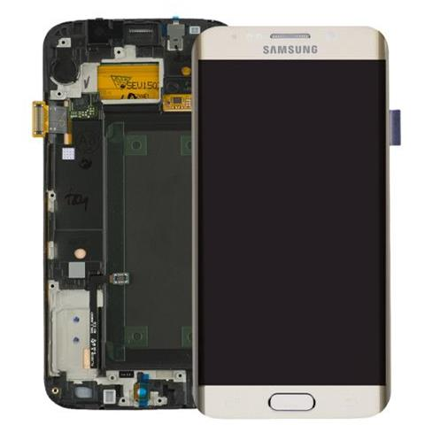 Image of Display schermo LCD touch Samsung Galaxy s6 edge sm-g925f bianco service pack