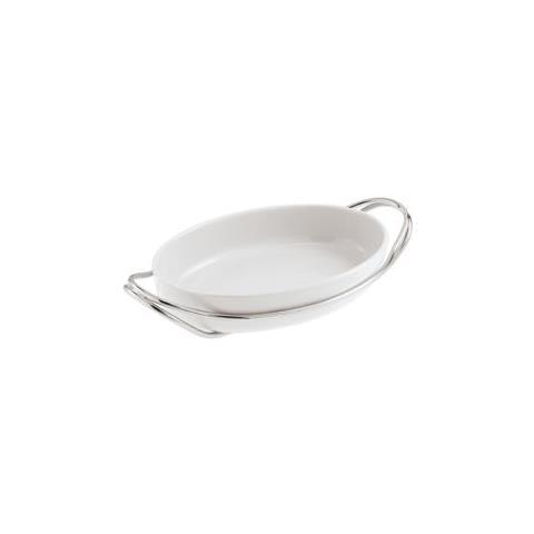 Pirofila Ovale Cm 44x27 New Living Porcellana