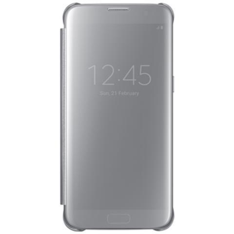 SAMSUNG Clear View Flip Cover per Galaxy S7 Edge - Argento
