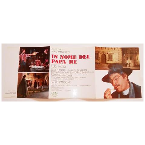 Vendilosubito Brochure In Inglese Originale Del Film In Nome Del Papa Re Con Nnino Manfredi