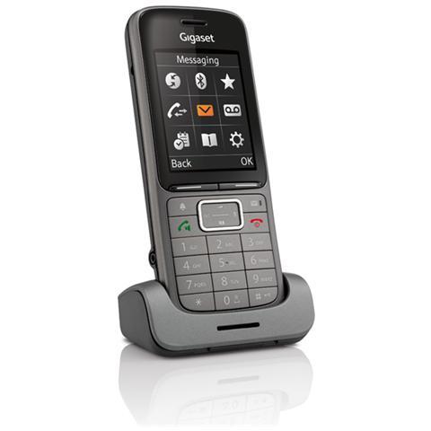 Gigaset Cordless Aggiuntivo S750H Professional con Bluetooth colore Grigio / Nero