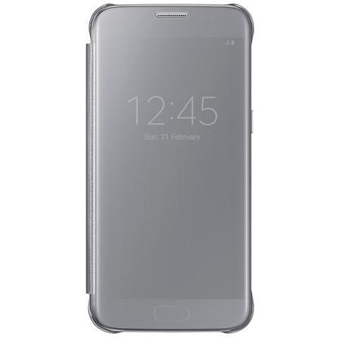 SAMSUNG Flip Cover Custodia Clear View Originale per Galaxy S7 - Argento