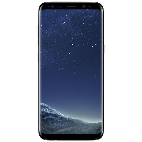 "SAMSUNG Galaxy S8 Nero 64 GB 4G / LTE Impermeabile Display 5.8"" Quad HD Slot Micro SD Fotocamera 12 Mpx Android Europa"