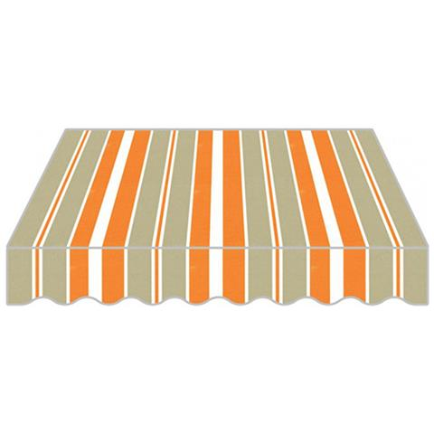 Tenda Da Sole A Caduta Per Giardino In Poliestere Di Colore Arancione