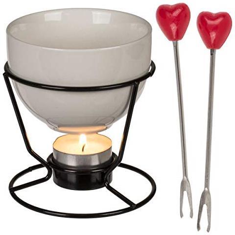 Set Per Mini Fondue Di Cioccolato Hearts (4 Pezzi) V0300871