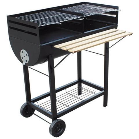 Barbecue a Legna Rettangolare Dimensione 98x55x93