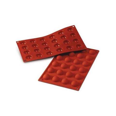 Stampo semisfere 24 cavità 3cm classic terracotta silicone