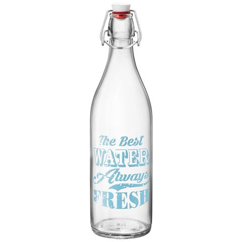 BORMIOLI Bottiglia in Vetro con tappo Ermetico 1 Litro