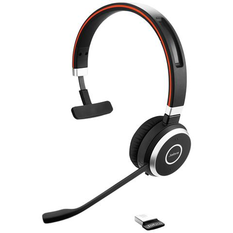 JABRA Evolve 65 UC Mono Padiglione Auricolare Bluetooth USB - Nero