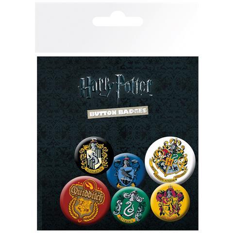 GB EYE Harry Potter: Crests (badge Pack)