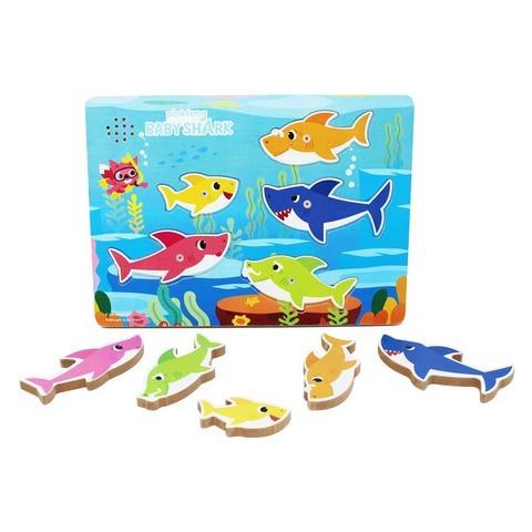 SPIN MASTER SPM6054918 Baby Shark - Puzzle in Legno con Melodia