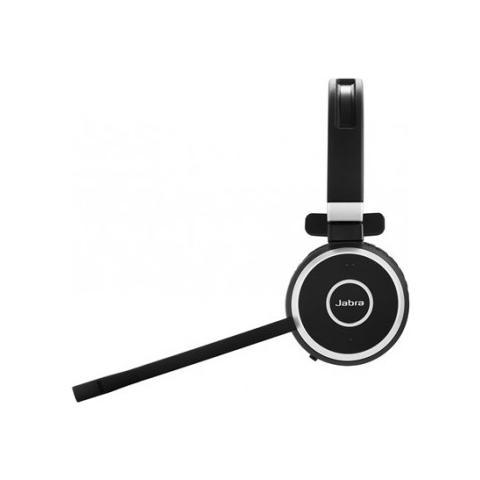 JABRA Evolve 65 MS mono, Monofonico, Nero, Padiglione auricolare, Wired / Bluetooth, Microsoft, USB