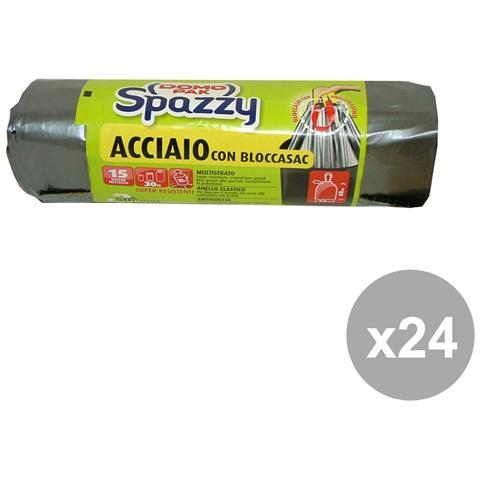 Domopak Set 24 Acciaio 15 Pezzi + Bloccasac Domopak Riordino