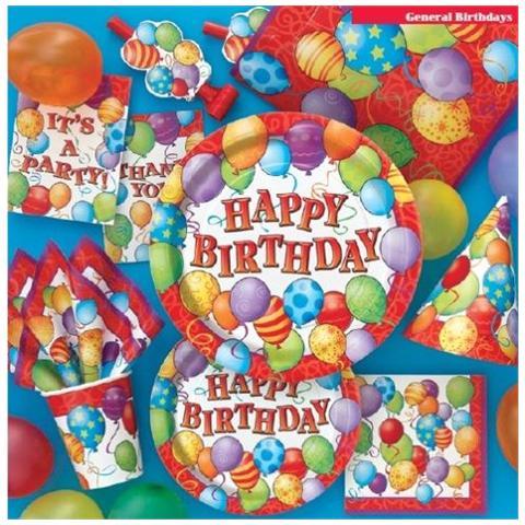 Ballon Express Unique Piatti Birthday Balloon 23 Cm