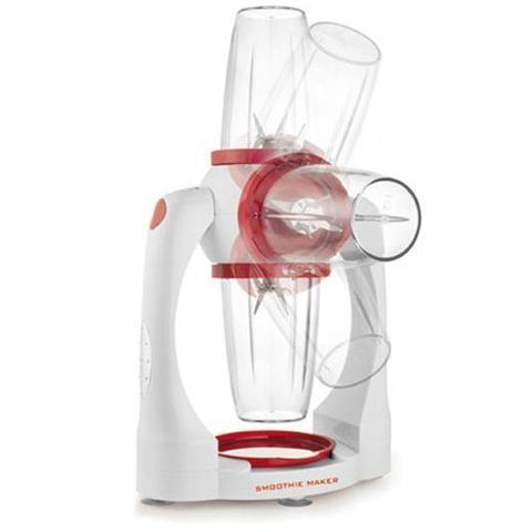 Frullatore Smoothie Maker Potenza 300 Watt Colore Bianco / Rosso