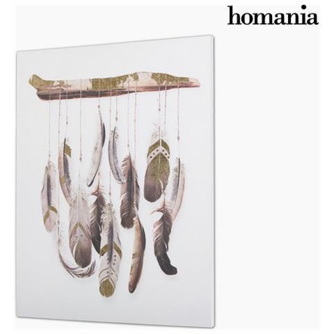 Homania Piume Su Tela By