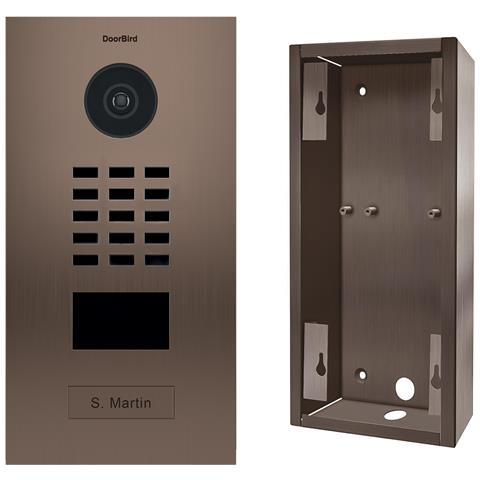 Kit D2101bv + Sup-d2101bv - Videocitofono Ip Rfid Card Reader + Custodia Per Montaggio Est...