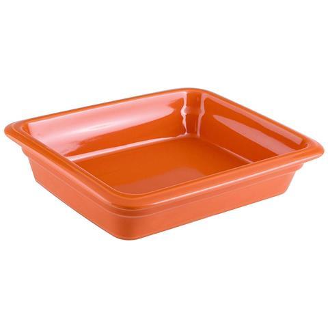 Bacinella Gn 1/2 Cm 32x26,5x6,5 Porcellana Arancio