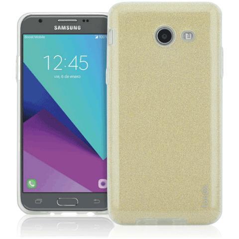 FONEX Chic Soft Cover in Morbido TPU con 3 Card Glitterate per Samsung Galaxy J7 (7)