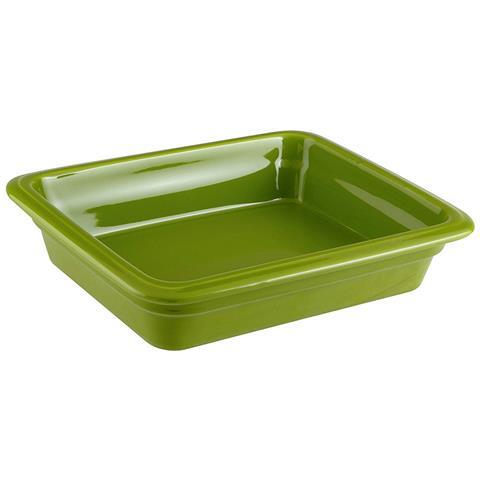 Bacinella Gn 1/2 Cm 32x26,5x6,5 Porcellana Verde