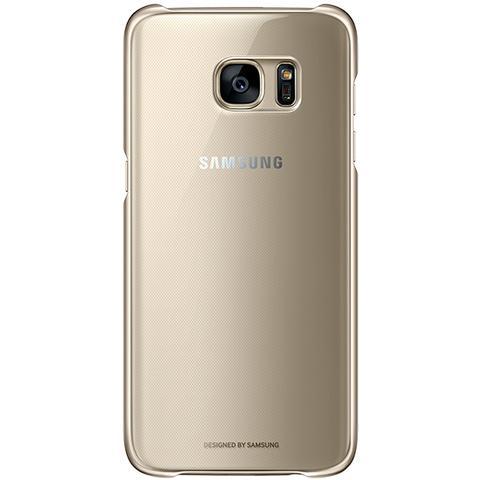 SAMSUNG Clear Cover per Galaxy S7 Edge - Oro