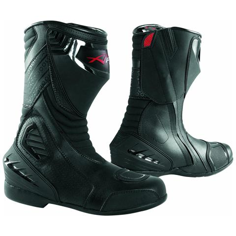 Stivali Stivaletto Moto Racing Pelle Pista Professionale Traspirante Nero 40