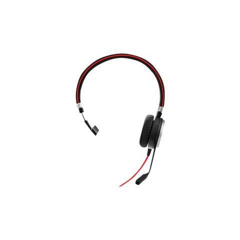 Evolve 40 UC Mono, Monofonico, Nero, Padiglione auricolare, Cablato, 3.5mm / USB, Sovraura...