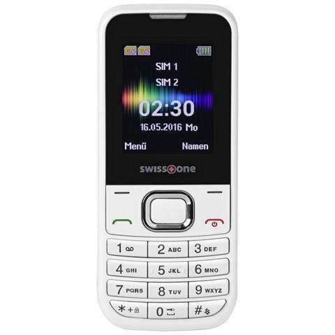 "SWISSTONE SC230 Dual Sim Display 1.77"" Bluetooth Fotocamera Bianco - Europa"