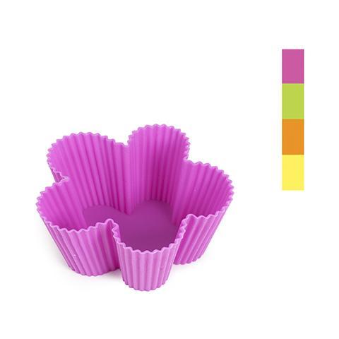 HOME Set 6 X 6 Pirottini Silicone Color Fiori 8 Pasticceria