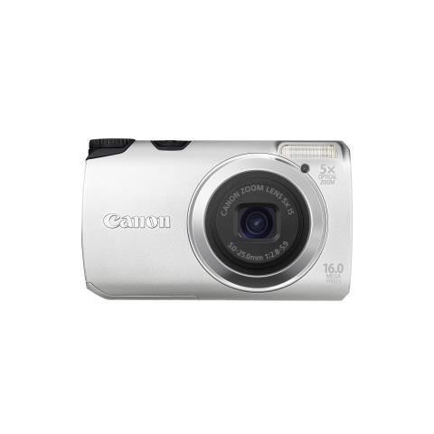 Fotocamera digitale compatta Canon PowerShot A3300 IS - 16 Megapixel - Argento - 7,6 cm (3'') LCD - 16:9 - 5x Zoom Ottico - 4x - Ottico (IS) - 4608 x