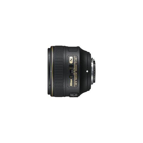 AF-S 58mm f / 1.4G, 9/6, Auto / Manuale, 5,8 cm, Nero, Bayonet, 8,5 cm